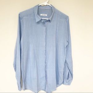 Lacoste Chambray Button Down Shirt 44